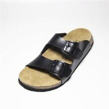Neue in 2016 Frauen Hausschuhe Cork Schuhe Sommer Strand Sandalen Mode-liebhaber Mischfarbe Schuhe Schnalle Rutschen Plus Größe 35-40