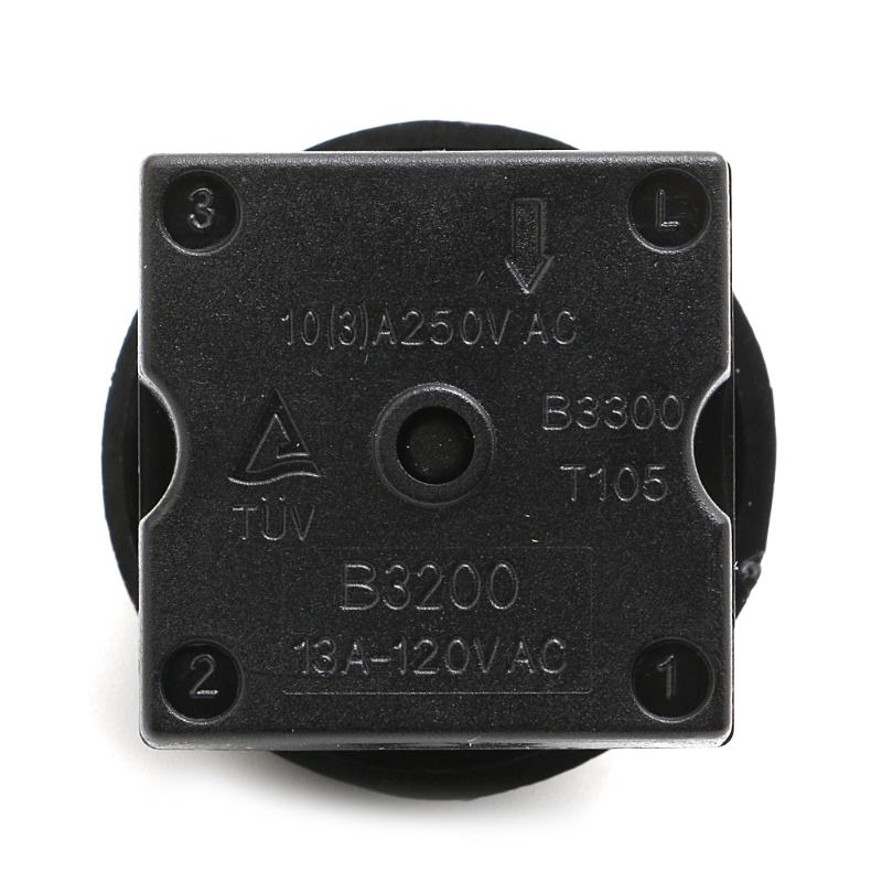Home Appliance Parts 4-position 3-speed Fan Selector Rotary Switch Governor With Knob 13amp 120v-250v