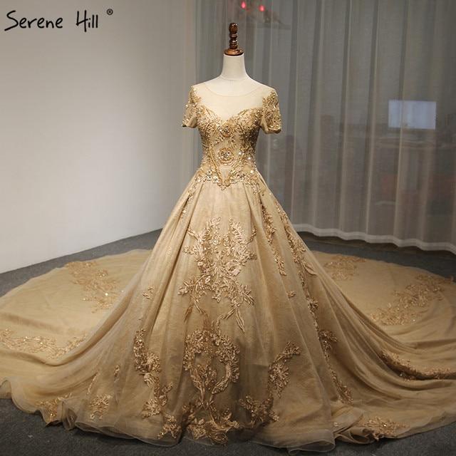 Short Sleeves Luxury Vintage High end Wedding Dresses 2018 Newest ...
