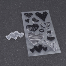 She Love Novelty Heart Leaf Music Notes Birdcage Pattern Silicone Clear Stamp DIY Scrapbooking Diary Seal Craft