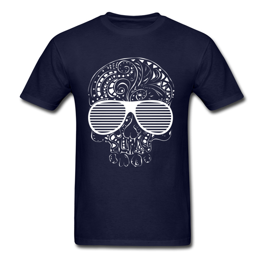 Fitness Tight Limited Edition Skull T Shirts Brand Fall Short Sleeve Crewneck T Shirt Cotton Fabric Mens Printed On Tee-Shirt Limited Edition Skull navy