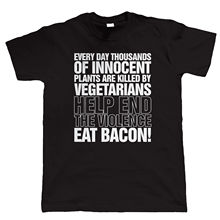 Eat Bacon Mens Funny T Shirt, Chef BBQ Fathers Day Birthday Gift For Dad Him New Shirts Tops Tee  free shipping