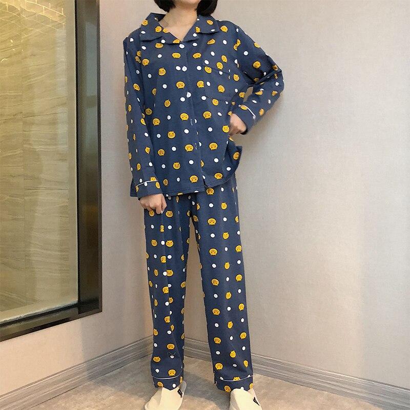 Primavera Verano Pijamas de Rayas Conjunto de Pijamas de algod/ón Ropa de Dormir de Dibujos Animados Conjuntos de Pijamas para Hombres Pijamas de Pijamas Ropa para el hogar-XXL