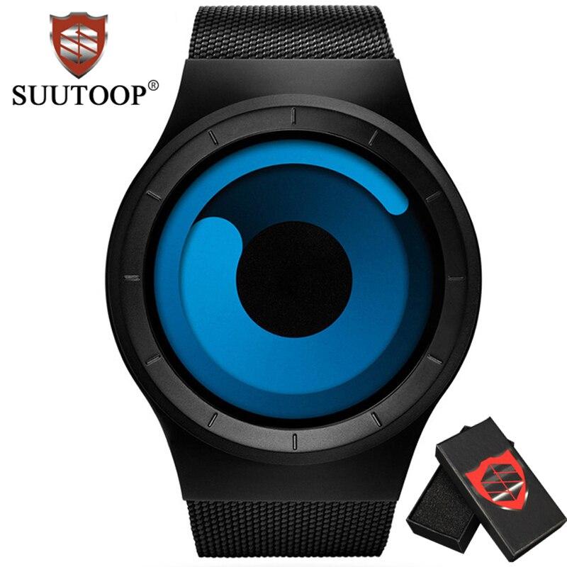 Mens Creative Watches Top Brand Luxury SUUTOOP Alloy Strap Quartz Sport Watch Business Fashion Wrist Watch