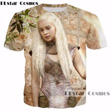 e40553f14 PLstar Cosmos 2017 New design summer Hot sale t-shirt TV drama Game of Thrones  Daenerys Targaryen 3d Print Men Women T shirts