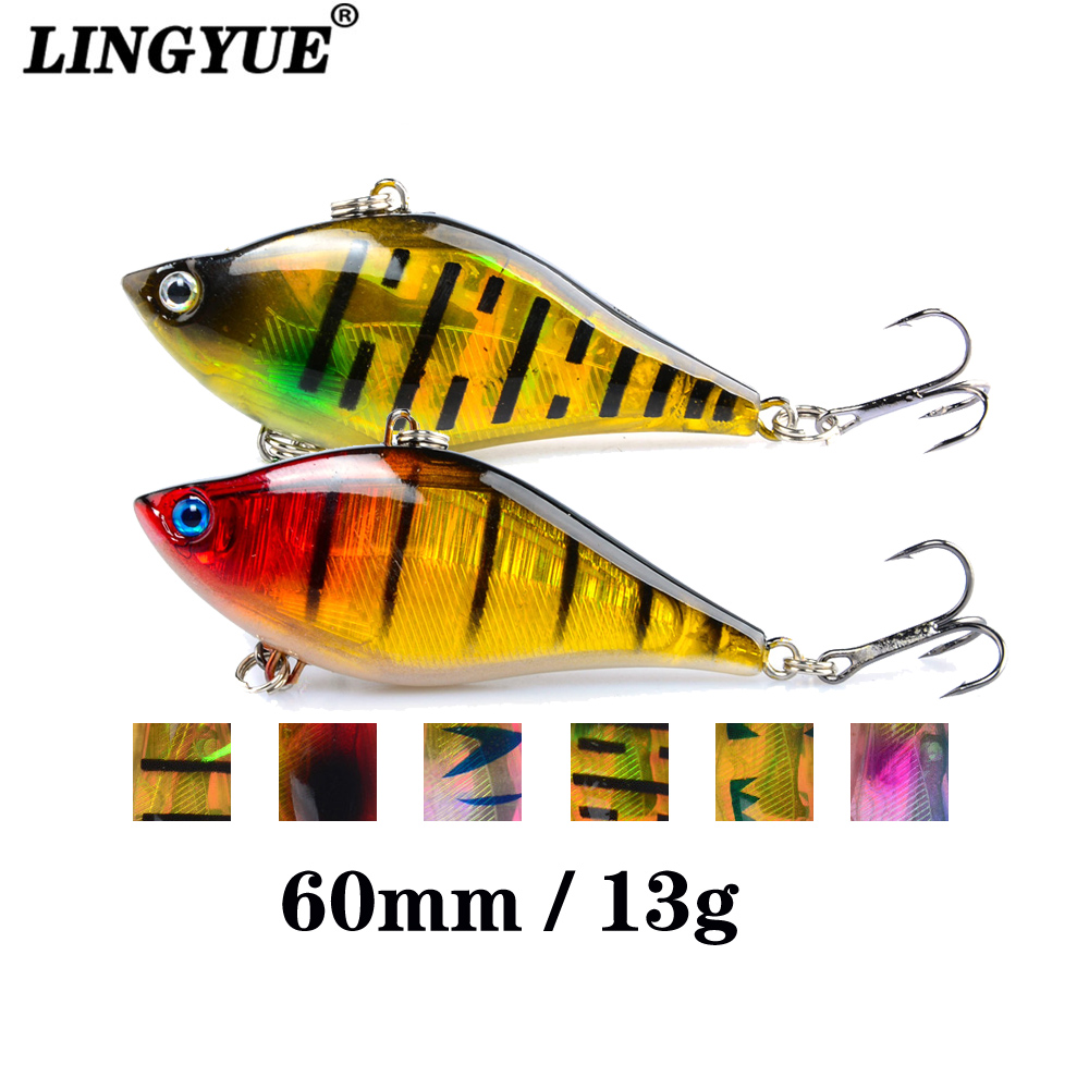 LINGYUE Fishing Wobbler Hard Platic VIB Fishing Lure 6CM 13G Isca Artificial Crankbait Fish Deep Water Swimbait Carp Fishing YY6