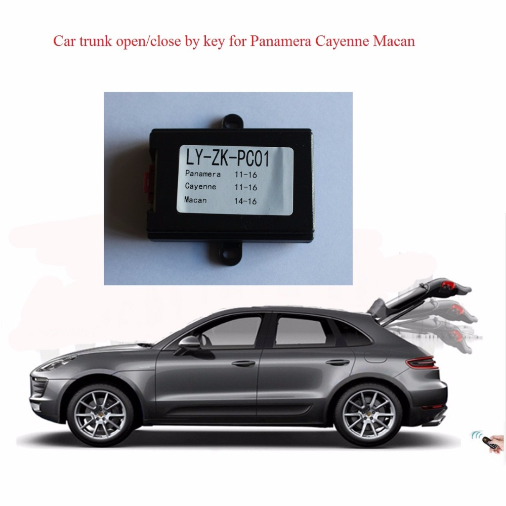 Alarm Systems & Security Car Electronics Plusobd Trunk Close Remote Trunk Release Car Automatic Close Module For Porsche Cayenne Macan Panamera Remote Close Trunk Various Styles