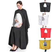 Adult Salon Hair Cut Hairdressing Barbers Hairstylist Cape Gown Waterproof Barber Cover Cloth Transparent Covers HB88