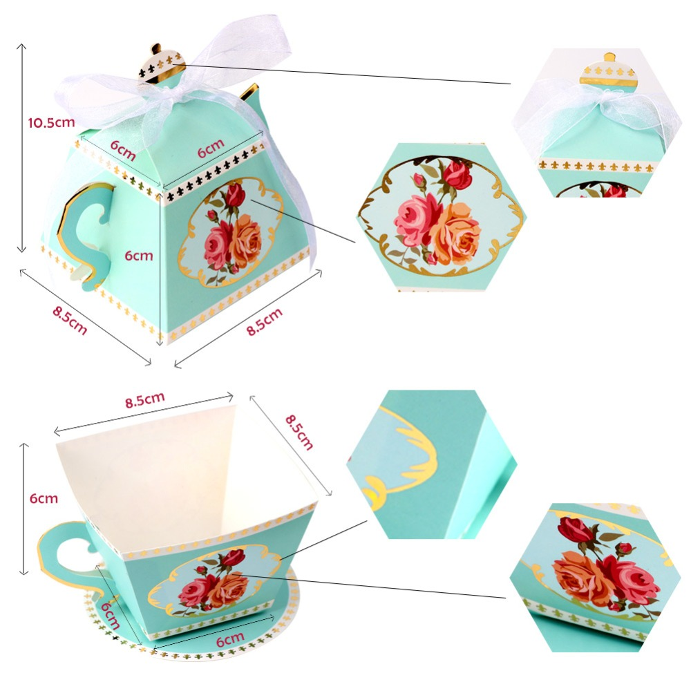 OurWarm 20Pcs Gift Box Tea Party Decorations Tea Cup Teapot Wedding ...