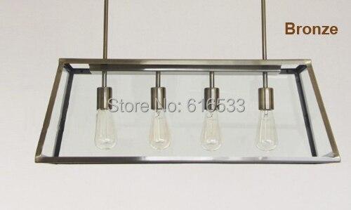 Vintage Loft Industriële Amerikaanse Lustre Organische Glazen Doos ...