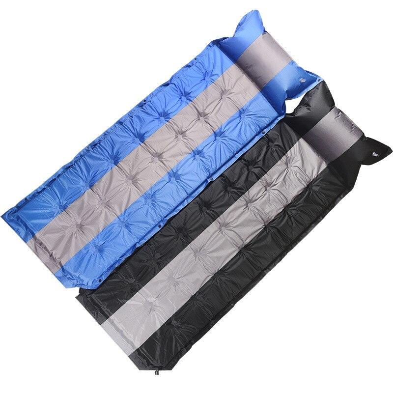 Tapis de couchage étanche à l'humidité de 5 cm d'épaisseur pour une personne en plein air Camping tente coussin matelas matelas gonflable automatique avec oreiller