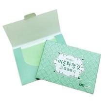 100 листов/упаковка Зеленый чай масло для лица промокающие листы бумага очищающее масло для лица контроль впитывающая бумага красота макияж матовые инструменты