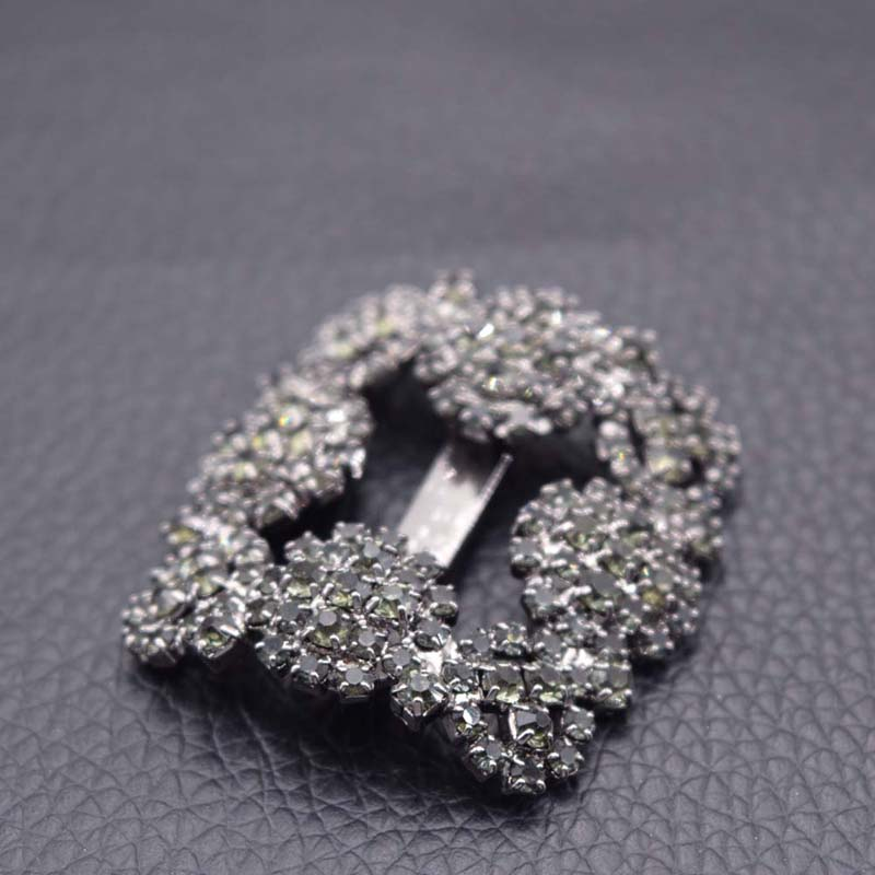 10pairs lot 34mm exquisite full rhinestones ribbon buckles for shoes bags sewing DIY free shipping multi