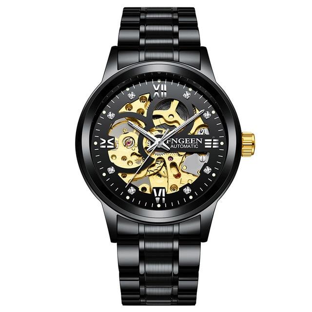 Skeleton Watch 2020 New FNGEEN Sport Mechanical Watch Luxury Watch Mens Watches Top Brand Montre Homme Clock Men Automatic Watch 6