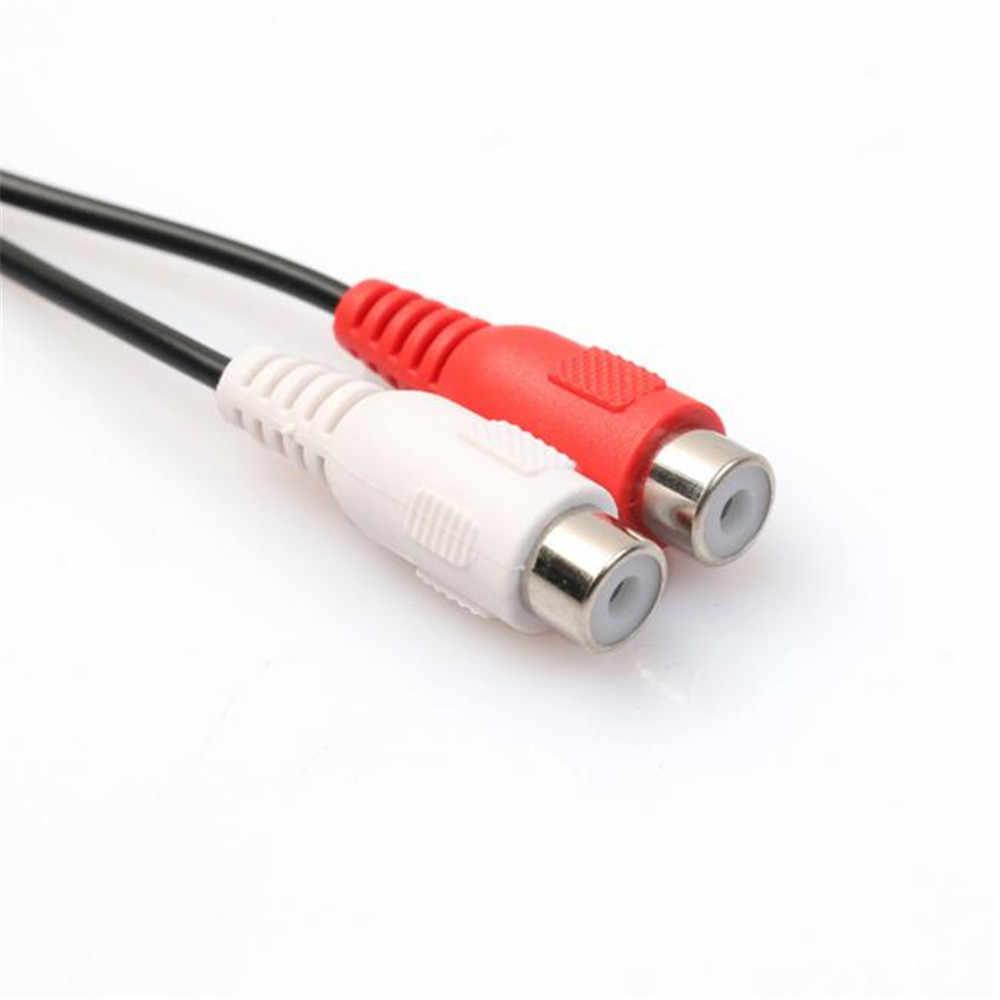 3.5mm Laki-laki untuk RCA Stereo Kabel Adaptor Perempuan Y-Kabel 25 cm 10 usb sata kabel usb kartu riser rj45 konektor dvi-d vga dual psu