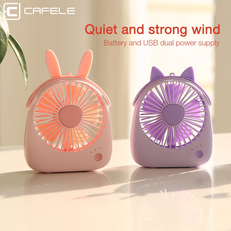 Image 5 - Cafele Mini USB Air Cooling Fan Rechargeable Portable Fan For Desktop Office PC Computer Portable Handheld 3 Speeds Mute Air fan-in USB Gadgets from Computer & Office