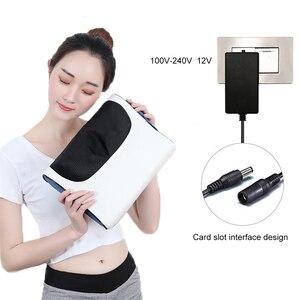 Image 3 - Многофункциональная Массажная подушка электрическая инфракрасная нагревательная разминание шеи массажер для тела Подушка для домашнего использования шейного позвонка