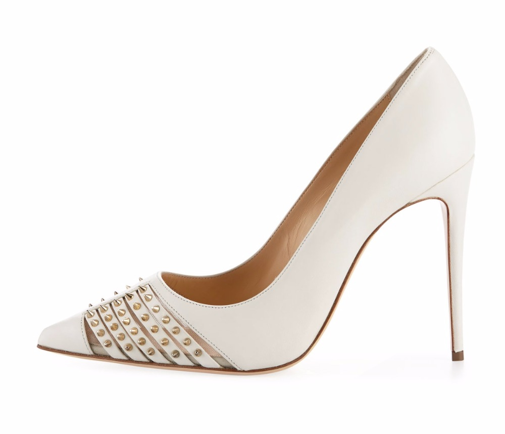 Womens Fashion Handmade Pointy Spikes Toe Slip-on 10cm High Heel Party Dress Summer Pumps Shoes CKE112 ladies handmade fashion yuoyuo 85mm peep toe slip on office party pumps shoes cke092