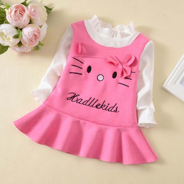 b3c3b957db6c BibiCola Baby Girl Dress spring Baby girl Clothing infant dresses ...