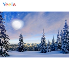 Yeele Winter Natural Landscape Pine Moon Room Decor Photography Backdrops Personalized Photographic Backgrounds For Photo Studio