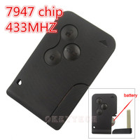 Best Price Excellent Quality 3 Button With Insert Small Key Blade Smart Card For Renault Megane