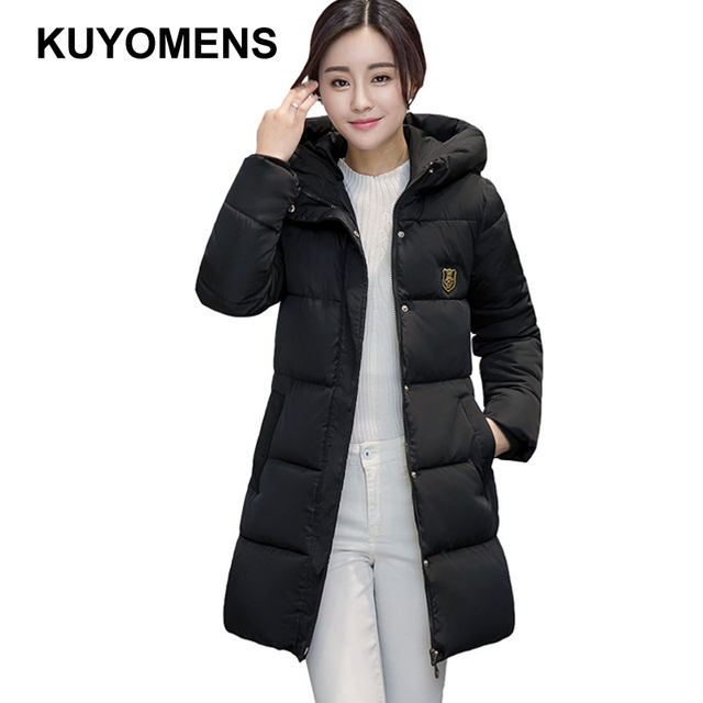 8eb92e52a US $25.64 5% OFF|KUYOMENS Women's Winter Coat Women Plus Size M XXXL Parka  Luxury Fashion Cotton Padded Thick Warm Coats Women Wadded Jackets-in ...