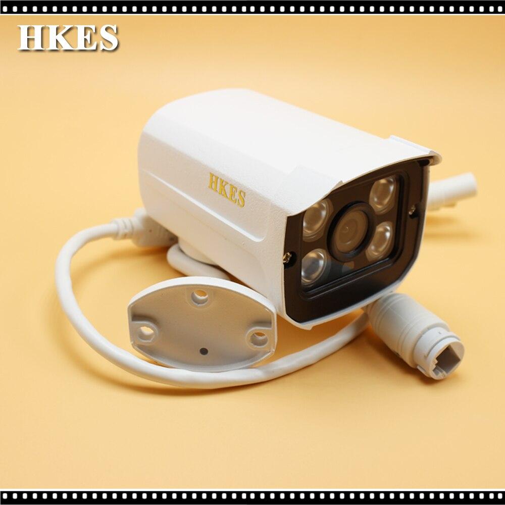 HKES 2MP IP Camera 1080P Full HD camera IP outdoor p2p Night Vision Waterproof CCTV Camera Audio hkes full hd 1080p bullet outdoor security camera ip 1920x1080 resolution 25meter night vision ip66 waterproof