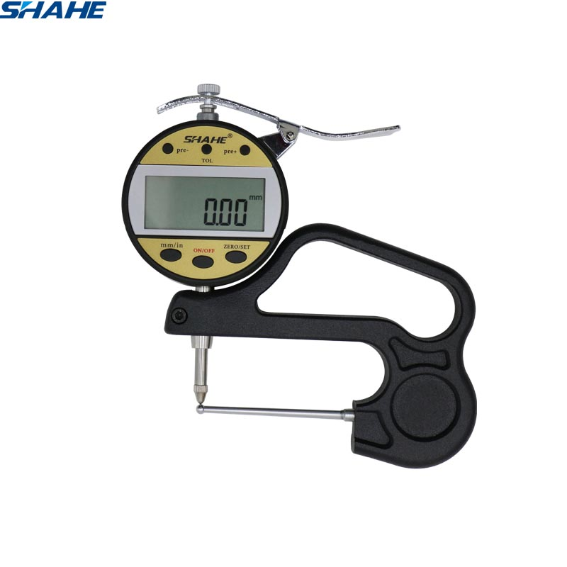 shahe 0 10 mm Digital Tube Thickness Gauge electronic thickness meter thickness tester