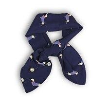 d6319e3bdf63 Printemps été nouvelle-Coréen style petit foulard multi-fonctionnelle soie  écharpe bandeau de mode de chien sauvage mignon décor.