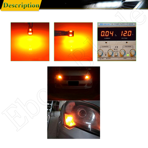 Image 5 - T10 W5W t 10 5w5 194 SMD Car Led Light Auto Interior Reading Clearance Side Wedge Bulb Lamp Yellow Orange Amber 12V Accessories