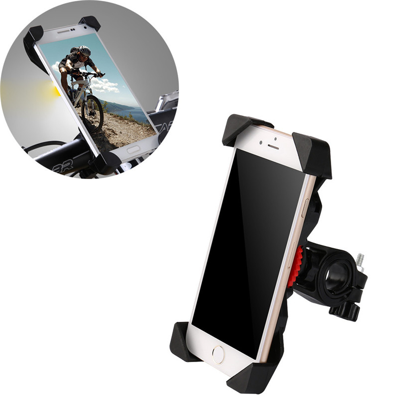 Bike Phone Handlebar Holder Non-slip Universal 360 Rotating Bicycle Clip Stand Mount Bracket Bicycle accessories calligrata тетрадь паттерн триколор 96 листов в клетку