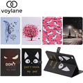 Hot!Cartoon Pattern PU Leather Case With Card Slots For Apple iPad Air 2 Case Folio Stand Protector Skin For iPad Air 2 Cover