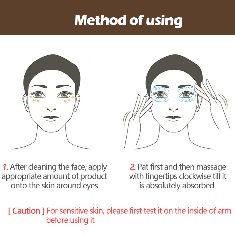 Купить с кэшбэком VIBRANT GLAMOUR Crocodile Anti-Aging Eye Cream Remove Dark Circles Puffiness Lighten fine lines Whitening Moisturizing eye care