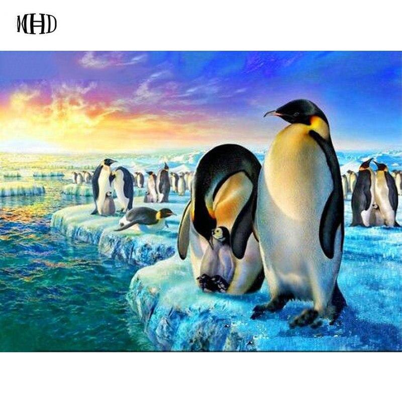 Nouveaute Pingouin Plein Carre Rond 3d Diamant Peinture Pingouin 5d Bricolage Diamant Broderie Cristal Mosaique Animaux Antarctique Aliexpress