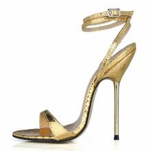 hot sale 2017 ultra sexy metal thin high heels sandals fashion gladiator belt summer women buckle shoes plus large size 35-42 43