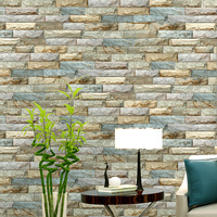 Vintage Brick Wallpaper For Walls 3 D Loft Wall Murals Vinyl Wallpaper Roll PVC Waterproof Wall