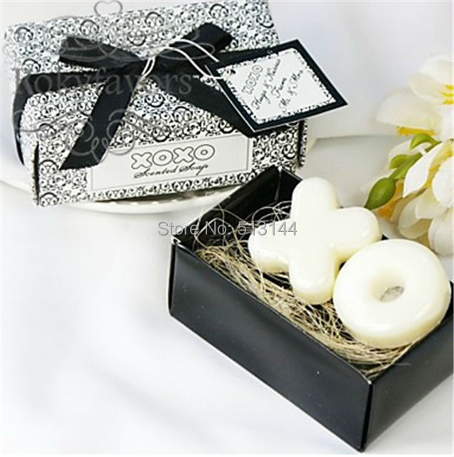 Free Shipping 20sets XO Soap Wedding Favors Party Gifts  Bridal Shower Party Decor Gifts Scented Soap (set of 2)