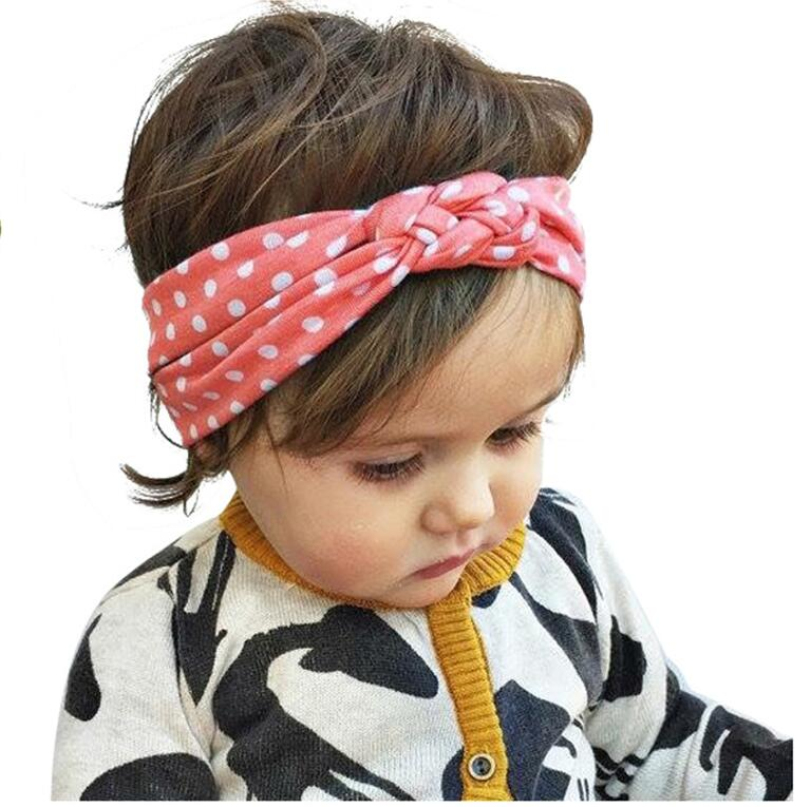 2018 Newborn Soft Girl Kids Cross Cotton Hairband Turban Knitted Knot Headband Headwear Hair Bands Hair Accessories KT010 metting joura vintage bohemian ethnic solid satin fabric cross turban elastic headband hair accessories
