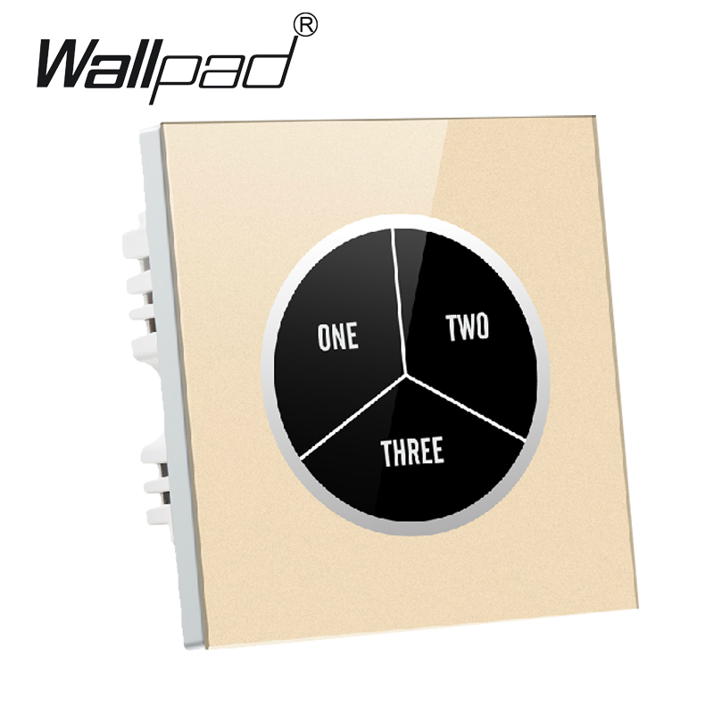 Gold 3 gangs 2 way Glass Screen Touch Wall Light Switch Free Design words on button 110V~250V micro touch switch,Free Shipping free shipping 3 gangs 1 way led indicator luxury click switch 110v 250v push button switch pressure wall light switch