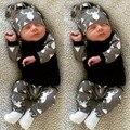 Bebé ropa de bebé ropa de otoño ropa del bebé establece recién nacido 3 unids trajes niños trajes de manga larga de algodón de moda