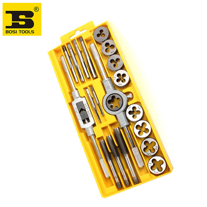 free shipping BOSI 20pc thread tap and die set