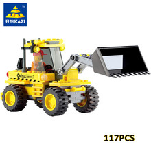 KAZI 8042 117Pcs City Construction Bulldozer Bricks Building Blocks Develop Intellectual Assemble Education Toys for Children(China)