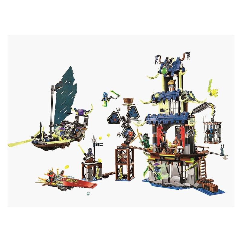купить Pogo Lepin Toy Phantom Of Ghost Ninjagoe Thunder Swordsman Building Blocks Bricks Toys Compatible Legoe недорого