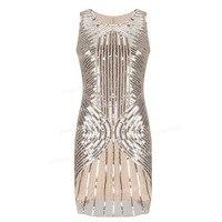 PrettyGuide Women 1920s Gatsby Downton Beaded Sequin Embellished Flapper Dress Elegant Cocktail Dress