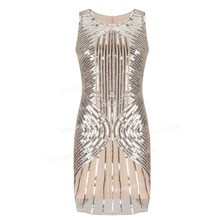 Beaded Sequin Embellished Flapper Dresss