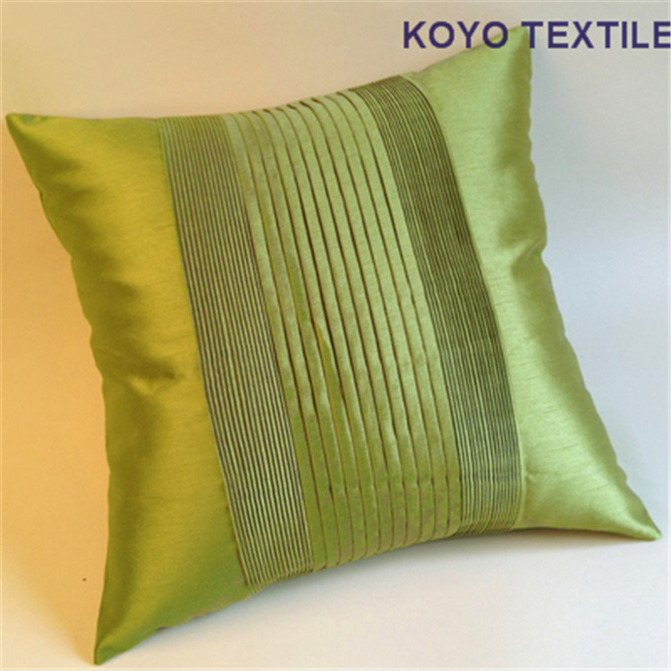 Modern Fashion Luxury Decorative Handmade Pintuck Pleated Stripe Faux Bamboo Silk Sofa 3D Cushion Cover Throw Pillow Cover Case