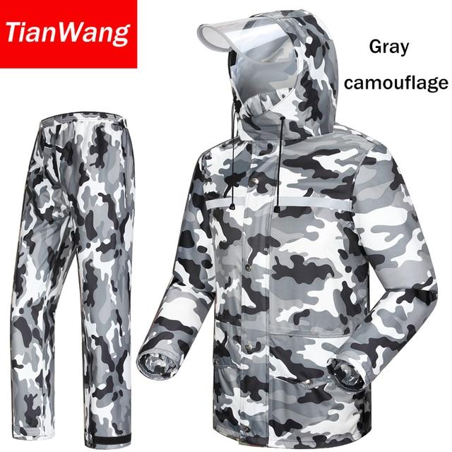 Tianwang waterproof rainproof Rain Jacket Women & Men's suit hood raincoat for motorcycle raincoat outdoors camping fishing 3