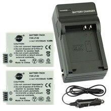 Dste 2 шт. lp-e8 lp-e8 lp e8 камера аккумулятор + зарядное устройство и автомобиль для canon 550d 600d 650d t2i t3i t4i x4 x5 x6i камеры dslr