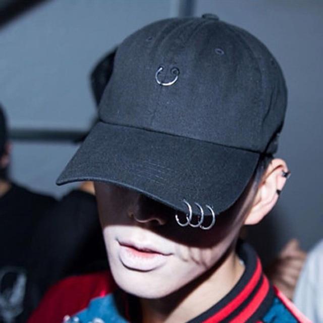 1d1eb2c692d41 High quality kpop Hoop fashion hip hop cap Black Baseball Cap personalized  hats Snapback hat Casquette baseball gorra adjustable