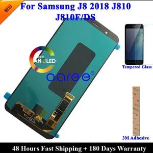 Image 3 - Tela amoled lcd para samsung j8 100%, super 2018, lcd, j810, para samsung j8 2018, j810, touch screen, digitizer montagem do conjunto